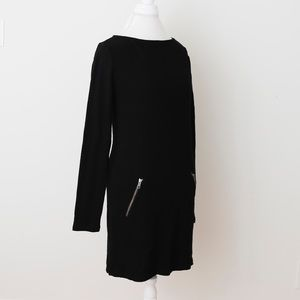 NWT Black Sweater Dress with Zippers